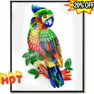 Quilling DIY Owl Parrot Kit Craft Paper Strips 3D Art Slotted Pen Template Tool