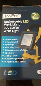 LyvEco Branded 10W Portable LED Rechargeable Work Light Cordless Flood Lamp