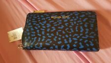 Michael Kors Wristlet Electric Blue LG FLAT MF PHN CASE LEATHER 32F7SFDE3Y NEW!