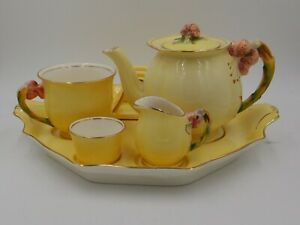 Vintage Royal Winton Yellow Tiger Lily Breakfast Set Bachelor Tea For One