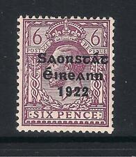 Ireland Eire - 1922/23 6d Overprint offset on reverse, SG60, (2 scans)