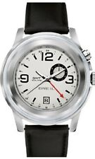 Breil Orchestra Collection Black Croc Leather Band TW1193 Dual Time Watch NWT