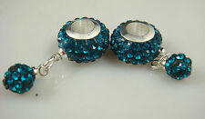 Gorgeous Czech Crystals Dangle Bead fit European Charm Bracelet Earrings a34bh
