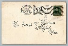 Clifford Massachusetts Bristol County 1906 Type 1/1 Doane Cancel Postcard Dpo