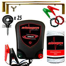 ShockRite Electric Fence Energiser Fencer 12V SRB20 0.2J Wire Insulators Kit