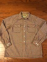 Vintage McGregor Washable SIZZLER FLANNEL Wool Plaid Button Front Shirt MEDIUM
