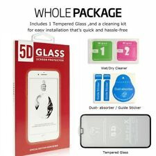 5D Tempered Glass Screen Protector Protection For Apple iPhone 7 -Black