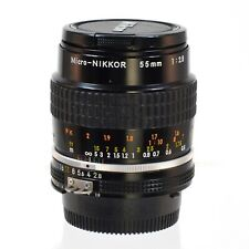 Nikon Micro-Nikkor 55mm 1:2.8 lens  light use very clean and clear