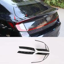 For Hyundai Sonata 2020-2021 ABS Carbon Rear Tail Lamp Tail Light Cover Trim