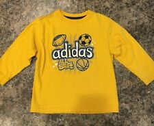 Adidas Yellow Gold Long Sleeve Shirt All Sports Boys 4 g1
