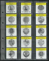 NEW - UK 50p coin album display sleeves - ALL designs 1969-2017 - NOT Royal Mint