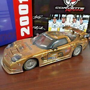 2001 Action Dale Earnhardt Sr Dale Jr 1:18 Corvette Raced Version Gold Chrome