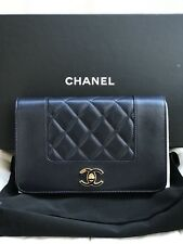 Authentic Chanel 2017 Mademoiselle Wallet On Chain WOC Crossbody Handbags