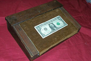 Antique Portable Lap Writing Desk Hard Wood Wooden Old Vintage Travel Document
