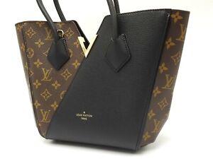 Auth LOUIS VUITTON Kimono PM Hand Shoulder Bag Monogram Noir Black M41855 V-6762