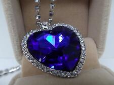 Titanic Heart Of The Ocean Blue Necklace Beautiful Rare Gift Women Present