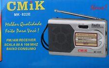 Poste Radio de Poche Style Retro 2 Band AM/FM De 88/108/ MHZ Alimentation Piles