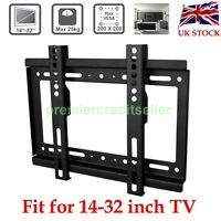 "UK TV Wall Bracket Mount Plasma LED LCD 3D 14 15 17 19 20 22 24 26 28 30 32"" UK"