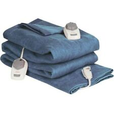 Sunbeam Queen Size Heated Blanket blue