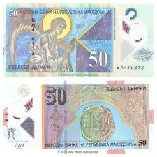 Macedonia 50 Denari 2018 P-New Polymer Banknotes UNC