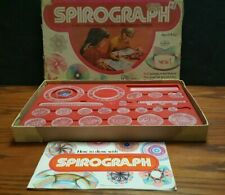 Vintage 1972 Spirograph Educational Design Drawing Toy by Kenner