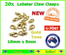 20x Gold Plated Metal Lobster Claw Clasps Clasp Hooks 10mm x 5mm for Bracelet