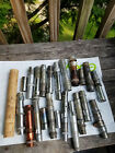 LOT OF 23  BAMBOO FISHING POLE FLY ROD PIECES PARTS REPAIR  FERRULES