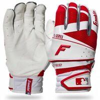 Brand NEW Original MENs Franklin Freeflex PRO Baseball BATTING Gloves White RED