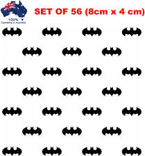 56 x BATMAN Wall Stickers 8cmx4cm Black Removable Nursery Kids Home Best Gift
