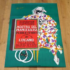 MOSTRA DEL MANIFESTO PUBBLICITARIO poster manifesto affiche Lugano Villaciani