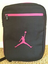 Nike Air Jordan Backpack Bag Laptop Tablet Black Pink Convertible Messenger New