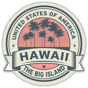 "Hawaii USA State Retro Badge Car Bumper Sticker Decal ""SIZES"""