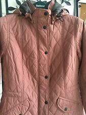 NWT BARBOUR WOMEN MILLFIRE QUILTED HOODED ROSE JACKET TARTAN LINING UK 16 US 12