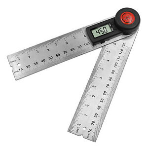 Stainless Steel Angle Inclinometer Size Tools Mm/Inch LCD Display Protractor