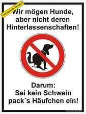 Hundehaufen, Tretmine, Schild Hund, Hundekot