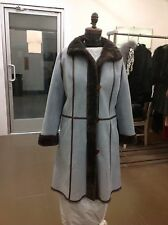 ZUKI SHEARLING FITTED JACKET COAT NEW W/ Tags GORGEOUS QUALITY NEW UNIQUE STITCH