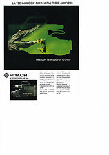 PUBLICITE ADVERTISING  1989   HITACHI  caméscope VM 300S