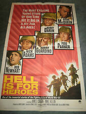 HELL IS FOR HEROES(1962)STEVE MCQUEEN ORIGINAL ONE SHEET POSTER