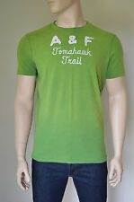 NEW Abercrombie & Fitch Dickerson Notch Green Destroyed Tee T-Shirt XL RRP £68