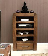 Shiro solid walnut dark wood furniture TV DVD console entertainment unit