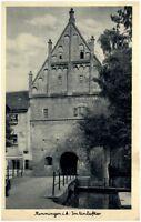 MEMMINGEN Bayern ~1930/40 alte Postkarte Straßen Partie am Einlaßtor