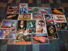 GERRY ANDERSON THUNDERBIRDS SET OF 19 POSTCARDS FAB 1 ITC INTERNATIONAL RESCUE