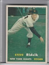 1957 TOPPS #123 STEVE RIDZIK NEW YORK GIANTS 4287