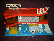 1970' 80' Garage ancien voiture Station ESSO Parking COQUEVAL