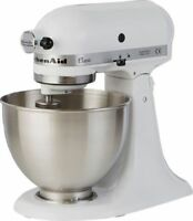 KitchenAid K45SS Classic Multi-Function Stand Mixer 4.28L White