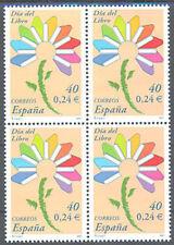 2001 DIA DEL LIBRO ALEGORIA FLOR EDIFIL 3789 ** MNH B4  BOOK DAY FLOWERS TC12448