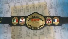 New Replica ECW Champion Belt, adult Size Metal Plates & Real Leather Strap
