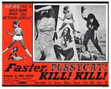 FASTER PUSSYCAT KILL KILL LOBBY SCENE CARD # 6 POSTER 1965 TURA SATANA HAJI