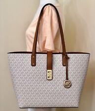 Michael Kors Karson Vanilla Acorn Signature Large Carryall Tote Bag