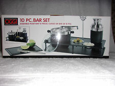 Oggi Stainless-Steel 10-Piece Cocktail Shaker and Bar Tool Set